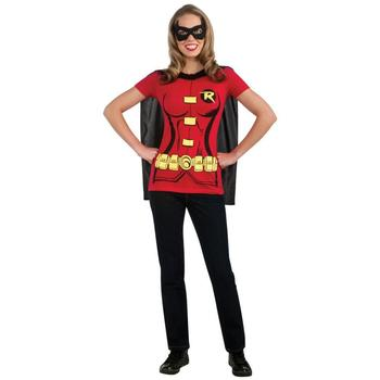 Robin T-Shirt With Cape Women's Costume Kit from Warner Bros.