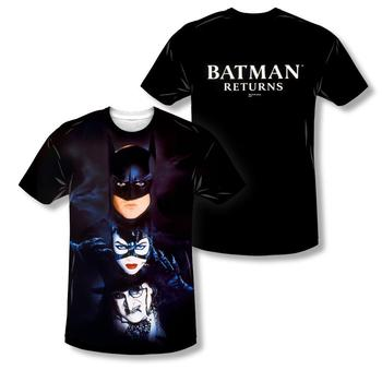 Batman Returns Theatrical Poster Sublimation Print Adult T-Shirt from Warner Bros.