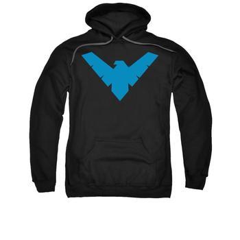 Nightwing Symbol Adult Black Hoodie from Warner Bros.