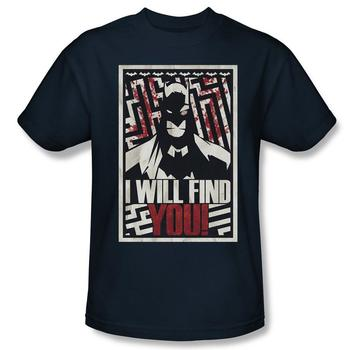 Batman I Will Find You Adult Black T-Shirt from Warner Bros.
