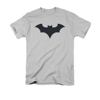 Batman New 52 Symbol Adult Silver T-Shirt from Warner Bros.