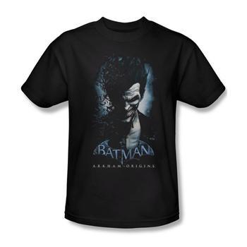 Batman Arkham Origins Joker Adult Black T-Shirt from Warner Bros.
