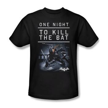Batman Arkham Origins One Night Adult Black T-Shirt from Warner Bros.