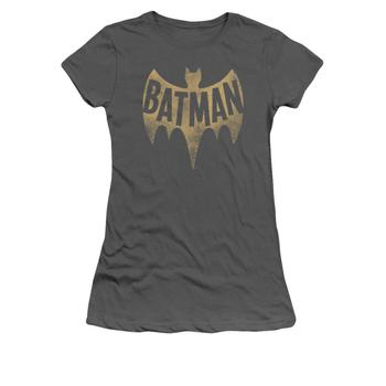 Batman 1966 Vintage Logo Juniors Charcoal T-Shirt from Warner Bros.