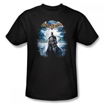 Batman Arkham City Game Over Black Adult T-Shirt from Warner Bros.