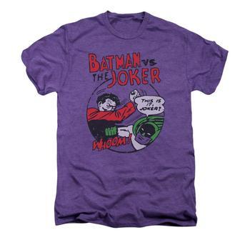 Batman Grudge Match Adult Premium Deep Purple Heather T-Shirt from Warner Bros.