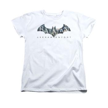 Arkham Knight Descending Logo Women's Relaxed White T-Shirt from Warner Bros.