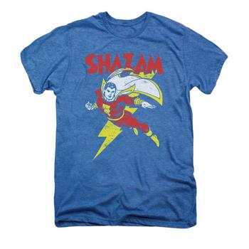 Shazam! Let's Fly Adult Premium Deep Sea Heather T-Shirt from Warner Bros.