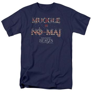 Fantastic Beasts And Where To Find Them&Trade; Muggle Equals No-Maj Adult Navy T-Shirt from Warner Bros.