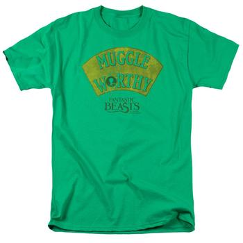 Fantastic Beasts And Where To Find Them&Trade; Muggle Worthy Adult Kelly Green T-Shirt from Warner Bros.