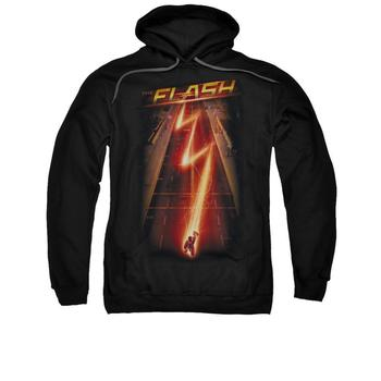 The Flash Tv Series Bolt Adult Black Hoodie from Warner Bros.
