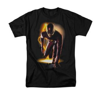 The Flash Tv Series On His Mark Adult Black T-Shirt from Warner Bros.