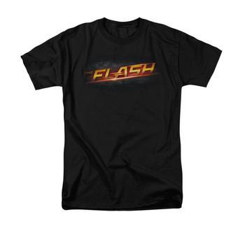 The Flash Tv Series Logo Adult Black T-Shirt from Warner Bros.