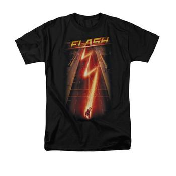 The Flash Tv Series Bolt Adult Black T-Shirt from Warner Bros.