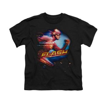 The Flash Tv Series Running Youth Black T-Shirt from Warner Bros.