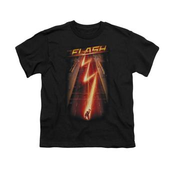 The Flash Tv Series Bolt Youth Black T-Shirt from Warner Bros.