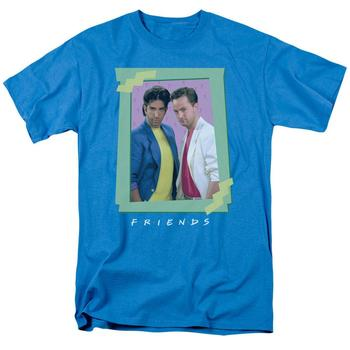 Friends 80'S Flashback Adult Turquoise T-Shirt from Warner Bros.