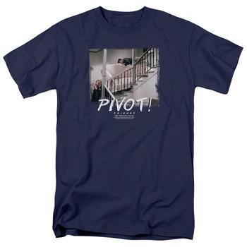 Friends Pivot Adult Navy T-Shirt from Warner Bros.