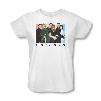 Friends Cast Women's White Relaxed Fit T-Shirt from Warner Bros.