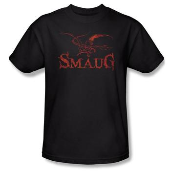 The Hobbit:  The Desolation Of Smaug Dragon Adult Black T-Shirt from Warner Bros.