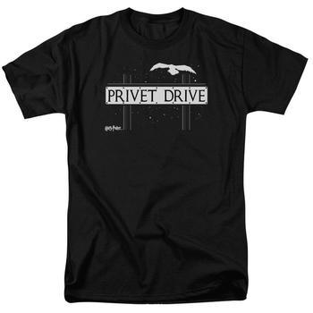 Privet Drive Adult Black T-Shirt from Warner Bros.