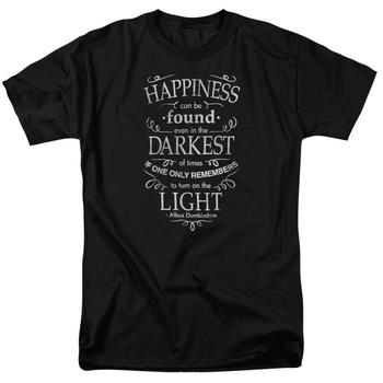Happiness Adult Black T-Shirt from Warner Bros.