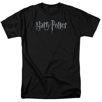 Harry Potter Logo Adult Black T-Shirt from Warner Bros.