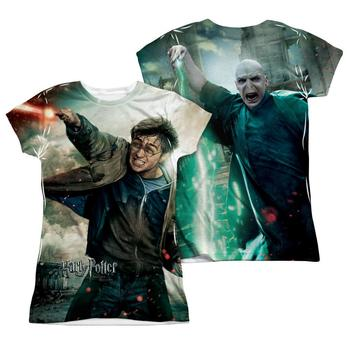 Harry Potter Vs. Voldemort Sublimation Print Juniors T-Shirt from Warner Bros.