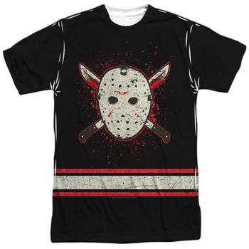 Friday The 13Th Voorhees Mask Adult Sublimation Jersey Style T-Shirt from Warner Bros.
