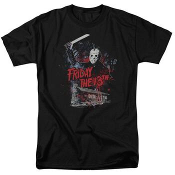 Friday The 13Th Cabin Adult Black T-Shirt from Warner Bros.