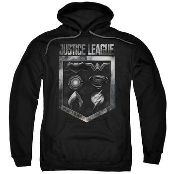 Justice League Movie Shield Of Emblems Adult Black Hoodie from Warner Bros.