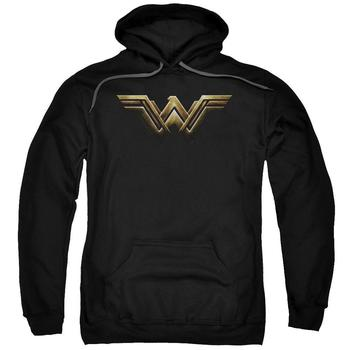 Justice League Movie Wonder Woman Logo Adult Black Hoodie from Warner Bros.