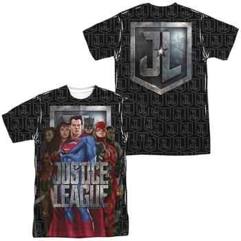 Justice League Movie Heroes Adult Sublimated T-Shirt from Warner Bros.