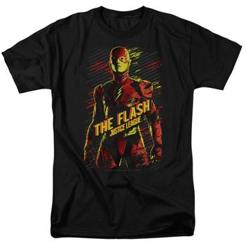 Justice League Movie The Flash Adult Black T-Shirt from Warner Bros.