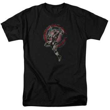 Justice League Movie Cyborg Adult Black T-Shirt from Warner Bros.