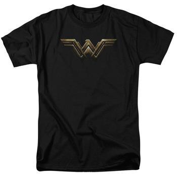 Justice League Movie Wonder Woman Logo Adult Black T-Shirt from Warner Bros.
