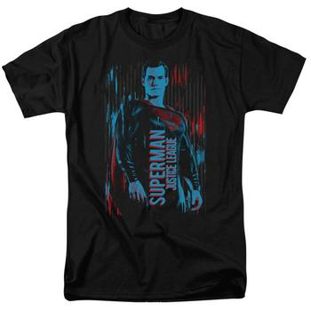 Justice League Movie Superman Adult Black T-Shirt from Warner Bros.
