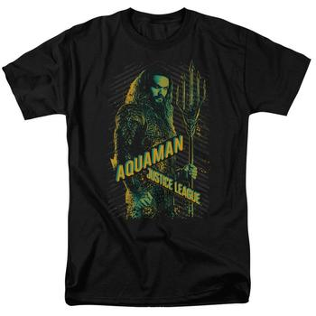 Justice League Movie Aquaman Adult Black T-Shirt from Warner Bros.