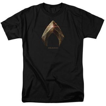 Justice League Movie Aquaman Logo Adult Black T-Shirt from Warner Bros.