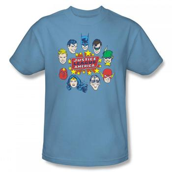 Justice League Head Circle T-Shirt from Warner Bros.
