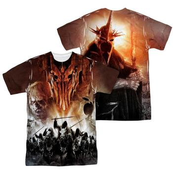The Lord Of The Rings Sauron Sublimation Print Adult T-Shirt from Warner Bros.