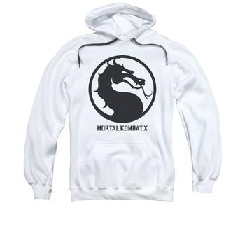 Mortal Kombat X Seal Adult White Hoodie from Warner Bros.
