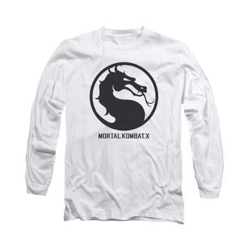 Mortal Kombat X Seal Adult Long Sleeve White T-Shirt from Warner Bros.