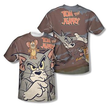 Tom And Jerry Up To No Good Sublimation Print Adult T-Shirt from Warner Bros.