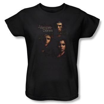 Vampire Diaries&Trade; Smokey Veil Women's Relaxed Fit Black T-Shirt from Warner Bros.