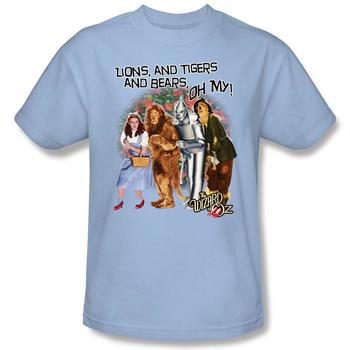 Wizard Of Oz Lions, Tigers And Bears Adult Light Blue T-Shirt from Warner Bros.