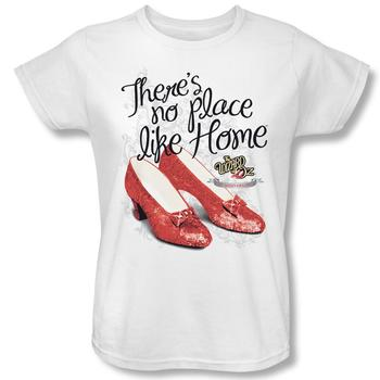 Wizard Of Oz Ruby Slippers 75Th Anniversary Women's Relaxed Fit White T-Shirt from Warner Bros.