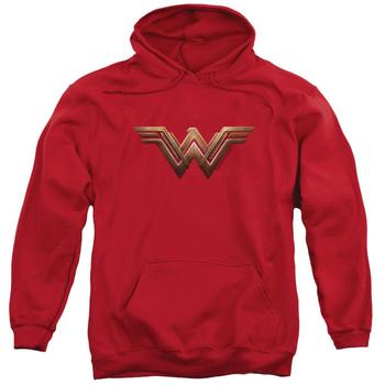 Wonder Woman Movie Logo Adult Red Hoodie from Warner Bros.