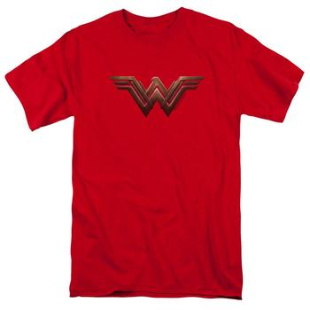 Wonder Woman Movie Logo Adult Red T-Shirt from Warner Bros.