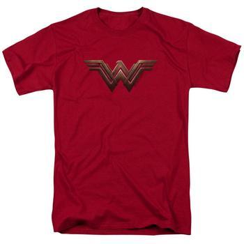 Wonder Woman Movie Logo Adult Cardinal T-Shirt from Warner Bros.